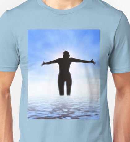 Woman in the sea Unisex T-Shirt
