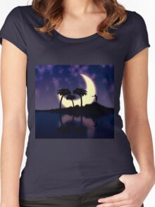 Girl on island Women's Fitted Scoop T-Shirt