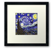 Starry Night Tardis Framed Print