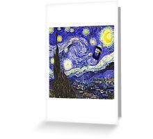 Starry Night Tardis Greeting Card