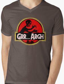 Grrassic Pargh Mens V-Neck T-Shirt