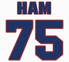 National football player Derrick Ham jersey 75 by imsport