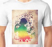 Girl with butterflies 2 Unisex T-Shirt