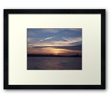 Evening Over The Tamar. Framed Print