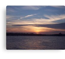 Evening Over The Tamar. Canvas Print