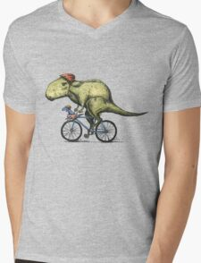T-rex Bikers Mens V-Neck T-Shirt