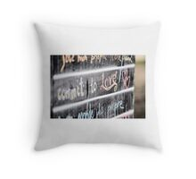 Commit to love! Throw Pillow