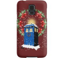 A WARM & COMFORTABLE TARDIS IN THGE SNOWSTORM  Samsung Galaxy Case/Skin