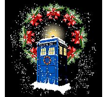 A WARM & COMFORTABLE TARDIS IN THE SNOWSTORM  Photographic Print