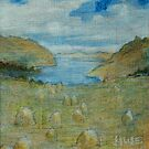 Haystacks enjoying the View, 2 by Edward Huse