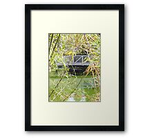 Bridge ove water in color Framed Print