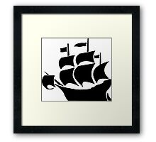 Galleon Framed Print