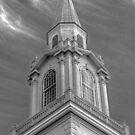 Church steeple B&W by henuly1