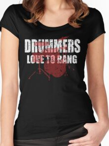 Drummers love to bang t shirt Women's Fitted Scoop T-Shirt