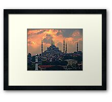 The Blue Mosque, Istanbul Framed Print