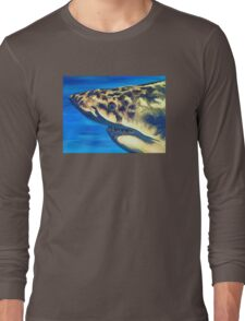 Great White Portrait Long Sleeve T-Shirt