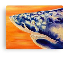 Great White Orange Canvas Print