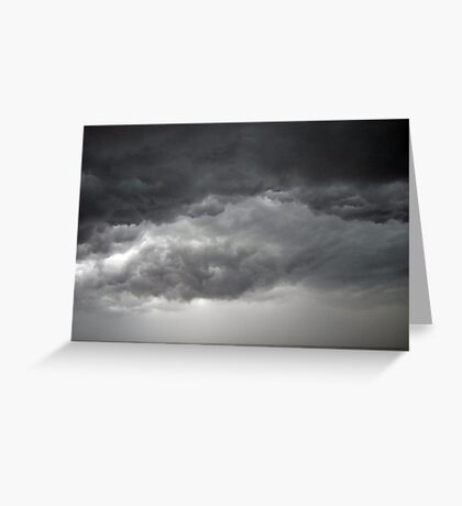 Thunder Storm Clouds Greeting Card