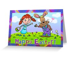 Easter Bunny and Friend Greeting Card