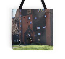 Byker Wall in a howling gale Tote Bag