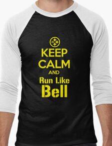 Keep Calm and Run Like Bell .1 Men's Baseball ¾ T-Shirt