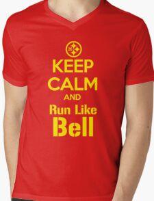 Keep Calm and Run Like Bell .1 Mens V-Neck T-Shirt