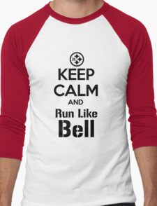 Keep Calm and Run Like Bell .2 Men's Baseball ¾ T-Shirt