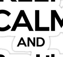 Keep Calm and Run Like Bell .2 Sticker