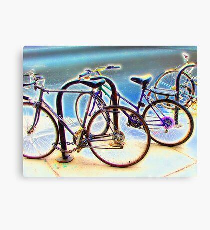 bikes at rest Canvas Print