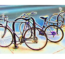 bikes at rest Photographic Print