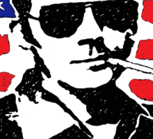 Hunter S Thompson. Drugs, alcohol, violence and insanity Sticker