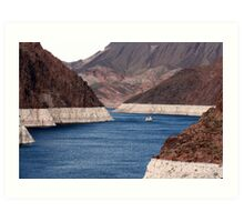 Lake Mead at Hoover Dam Art Print