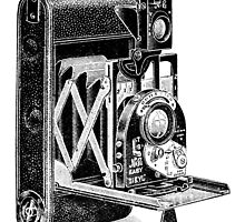 Vintage Camera Line Art by Kawka