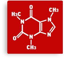Caffeine Molecule Canvas Print