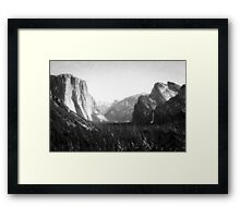 Yosemite National Park--mixed media painting Framed Print