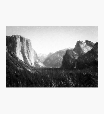 Yosemite National Park--mixed media painting Photographic Print