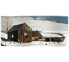 Old Barn - Heber City, Utah Poster