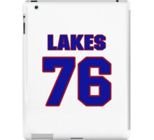 National football player Roland Lakes jersey 76 iPad Case/Skin