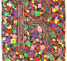 Letter R by acid