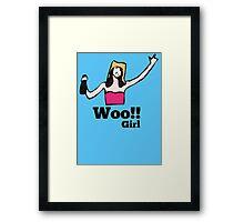 Woo!! Girl Framed Print