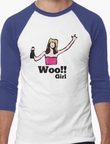 Woo!! Girl Men's Baseball ¾ T-Shirt