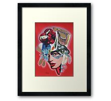 Cherry hat Framed Print