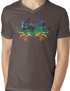 Inked Crab Mens V-Neck T-Shirt