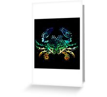 Inked Crab Greeting Card
