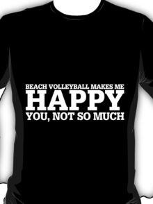 Happy Beach Vollyball T-shirt T-Shirt