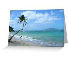 Swing at the Beach Greeting Card