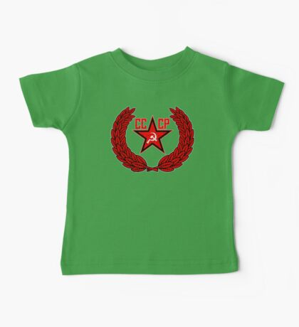 Russian Soviet Red CCCP Baby Tee