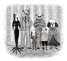 Addams Family Dogs by Molly Eschbacher