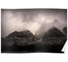 Provo Canyon - Winter Clouds Poster