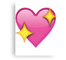 Sparkle heart emoji Canvas Print